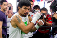 Manny Pacquaio Media Workout